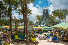 Volcano Bay Water Park Stock Photo