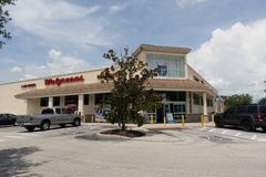 Walgreen Pharmacy store exterior view royalty free stock photos