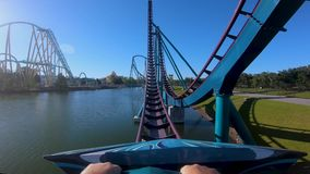 Amazing Mako Rollercoaster experience at Seaworld in International Drive area.