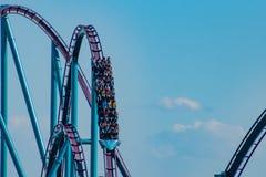 People enjoying amazing  Mako rollercoaster at Seaworld in International Drive area 2 stock image