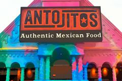 Traditional Mexican style restaurant at Citywalk Universal Studios. royalty free stock photos
