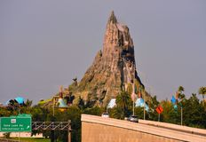 Volcano Bay and Interestatal 4, view from Universal Boulevard bridge. stock images