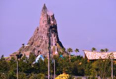 Volcano Bay water park, side view from Universal Boulevard. stock photography