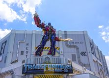 ORLANDO, FLORIDA, DE V.S. - 08 MEI, 2018: Universele Studio's Ingang van Transformatoren 3D rit Royalty-vrije Stock Foto's