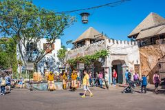 Africa area at the Animal Kingdom at Walt Disney World. Orlando, Florida: December 1, 2017: Africa section of the Animal Kingdom at Walt Disney World.  The Royalty Free Stock Image