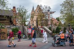 Canada Pavilion, Epcot. Orlando, Florida: December 4, 2017: Canada Pavilion at Epcot at Walt Disney World.  Epcot opened in October 1, 1982 Royalty Free Stock Photo