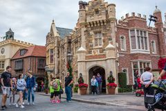 Canada Pavilion, Epcot. Orlando, Florida: December 4, 2017: Canada Pavilion at Epcot at Walt Disney World.  Epcot opened in October 1, 1982 Stock Photography