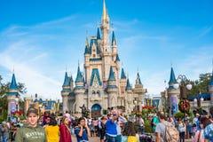 Cinderella Castle at The Magic Kingdom, Walt Disney World. Orlando, Florida: December 2, 2017: Cinderella Castle at The Magic Kingdom, Walt Disney World.  In Stock Photo
