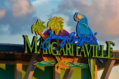 Colorful Margaritaville sign at Citywalk in Universal Studios area . royalty free stock image