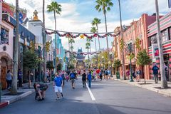 Disney`s Hollywood Studios in Orlando, Florida. Orlando, Florida: December 3, 2017: Disney`s Hollywood Studios in Orlando, Florida. Disney`s Hollywood Studios royalty free stock image