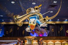 Donald Duck in a Disney store at the Magic Kingdom, Walt Disney World. Orlando, Florida: December 2, 2017: Donald Duck at a Disney store at The Magic Kingdom Royalty Free Stock Photo