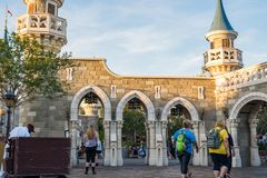 Fantasyland at the Magic Kingdom, Walt Disney World. Orlando, Florida: December 2, 2017: Fantasyland at The Magic Kingdom, Walt Disney World. In 2016, the park stock image