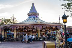 Fantasyland at the Magic Kingdom, Walt Disney World. Orlando, Florida: December 2, 2017: Fantasyland at The Magic Kingdom, Walt Disney World. In 2016, the park stock images