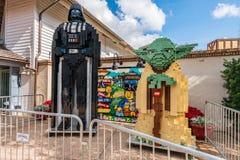 Orlando, Florida - December 2017: Lego Darth Vader and Yoda from Star Wars Orlando, Florida - December, 2017 - Colorful artificial