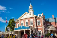 Liberty Square at the Magic Kingdom. Orlando, Florida: December 2, 2017: Liberty Square at The Magic Kingdom, Walt Disney World. In 2016, the park received 20 royalty free stock photography