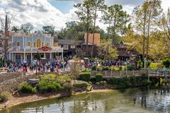 Liberty Square at the Magic Kingdom. Orlando, Florida: December 2, 2017: Liberty Square at The Magic Kingdom, Walt Disney World. In 2016, the park received 20 stock photo