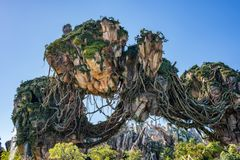 Pandora – The World of Avatar at the Animal Kingdom at Walt Disney World. Orlando, Florida: December 1, 2017: Pandora – The World of Avatar at the royalty free stock images