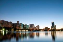 Orlando Florida Downtown Skyline alla notte Fotografia Stock Libera da Diritti