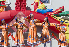 ORLANDO-Florida 9. Februar 2014 - Dragon Parade Lunar New Year F.E. Stockfotografie