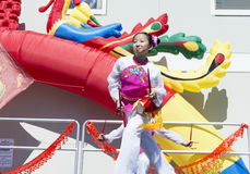 ORLANDO-Florida 9. Februar 2014 - Dragon Parade Lunar New Year F.E. Stockbilder