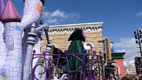 Count Von Count dancing on his creepy float in Sesame Street Party Parade at Seaworld.