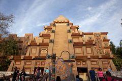 Front view of Mexico, EPCOT. Orlando, Florida: February 5, 2018: Mexico at EPCOT`s world showcase Royalty Free Stock Photography