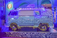Nice vintage van in Mexican Restaurant at Universal Studios area. royalty free stock photography