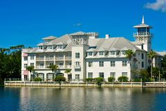 The Bohemian Celebration Hotel. Perched lakeside in the charming town of Celebration in Kissimmee area. Orlando, Florida. January 15, 2019 . The Bohemian stock images