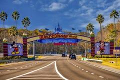 Entrance Arch of Walt Disney Theme Parks at Lake Buena Vista area .