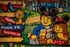Colorful mural of Lego in Disney Springs at Lake Buena Vista . royalty free stock images