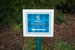 Saratoga Spring Resort Spa sign at Lake Buena Vista area.
