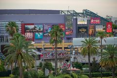 Top view of Citywalk main entrance at Universal Studios area . stock photography