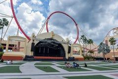 ORLANDO, FLORIDA - MAY 06, 2015: Attractions in Universal Orlando, Florida. Royalty Free Stock Photo