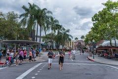 ORLANDO, FLORIDA - MAY 06, 2015: Attractions in Universal Orlando, Florida. Stock Images