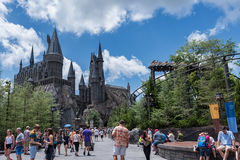ORLANDO, FLORIDA - MAY 06, 2015: Hogwarts in Universal Orlando, Florida. Hogwarts in Universal Orlando, Florida Royalty Free Stock Photos