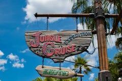 Jungle Cruise Expedition sign in Magic Kingdom at Walt Disney World .