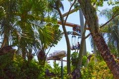 Orlando, Florida - May 09, 2018: Jurassic Park at Universal Studios Islands of Adventure theme park. In Orlando, Florida on May 09, 2018 Stock Photography