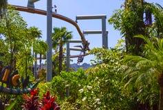 Orlando, Florida - May 09, 2018: Jurassic Park at Universal Studios Islands of Adventure theme park. In Orlando, Florida on May 09, 2018 Royalty Free Stock Photography