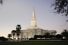 Orlando Florida Mormon Temple at Dusk. Orlando Temple of the Church of Jesus Christ of Latter-day Saints (Mormons) at dusk Stock Images