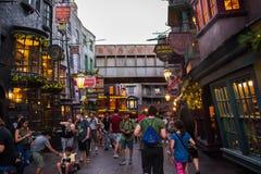 Diagon Alley at Universal Studios Florida. Orlando, Florida: November 30, 2017: The Wizarding World of Harry Potter – Diagon Alley at Universal Studios Royalty Free Stock Photo