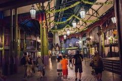 Diagon Alley at Universal Studios Florida. Orlando, Florida: November 30, 2017: The Wizarding World of Harry Potter – Diagon Alley at Universal Studios Royalty Free Stock Photography
