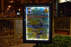 Colorful Sign of Latin American Food at Lake Buena Vista Area. stock photography