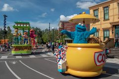 Cookie Monster in Sesame Street Party Parade at Seaworld 3