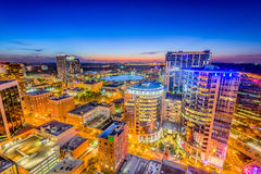 Orlando, Florida, orizzonte di U.S.A. Fotografia Stock Libera da Diritti