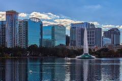 Orlando, Florida Skyline and Lake Eola stock photography