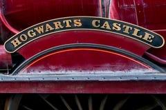 ORLANDO, FLORIDA, U.S.A. - DICEMBRE 2017: Il mondo di Wizarding di Harry Potter - la stazione ed il binario di treno espresso di  fotografia stock