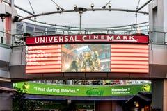 ORLANDO, FLORIDA, U.S.A. - DICEMBRE 2018: L'universale di Cinemark a CityWalk ha individuato ad Universal Studios fotografia stock libera da diritti