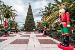 ORLANDO, FLORIDA, USA - DECEMBER, 2018: Christmas Tree at Eola Park stock image
