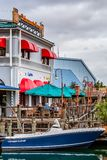 ORLANDO, FLORIDA, USA - DEZEMBER 2018: Der Fischer Wharf an San Francisco-Zone, Universal Studios lizenzfreies stockbild