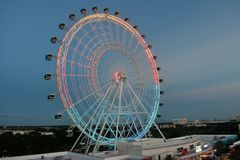 Giant wheel, air view from International Drive, Orlando, Florida stock photography